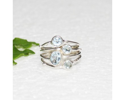 Attractive NATURAL SKY BLUE TOPAZ Gemstone Ring, Birthstone Ring, 925 Sterling Silver Ring, Fashion Handmade Ring, All Ring Size, Gift Ring