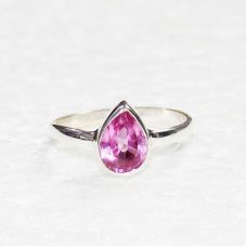 Beautiful PINK TOPAZ Gemstone Ring, Birthstone Ring, 925 Sterling Silver Ring, Fashion Handmade Ring, All Ring Size, Gift Ring