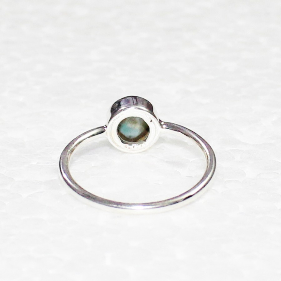 Gorgeous NATURAL DOMINICAN LARIMAR Gemstone Ring, Birthstone Ring, 925 Sterling Silver Ring, Fashion Handmade Ring, All Ring Size, Gift Ring