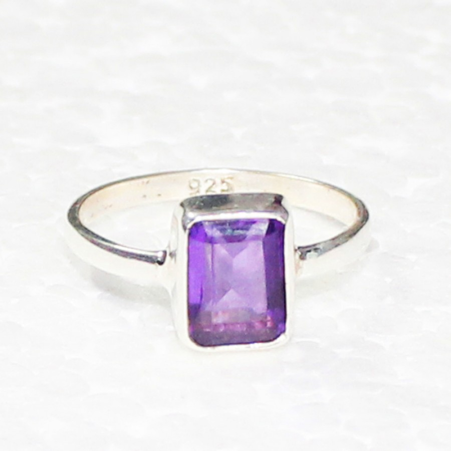 Amazing PURPLE AMETHYST Gemstone Ring, Birthstone Ring, 925 Sterling Silver Ring, Fashion Handmade Ring, All Ring Size, Gift Ring