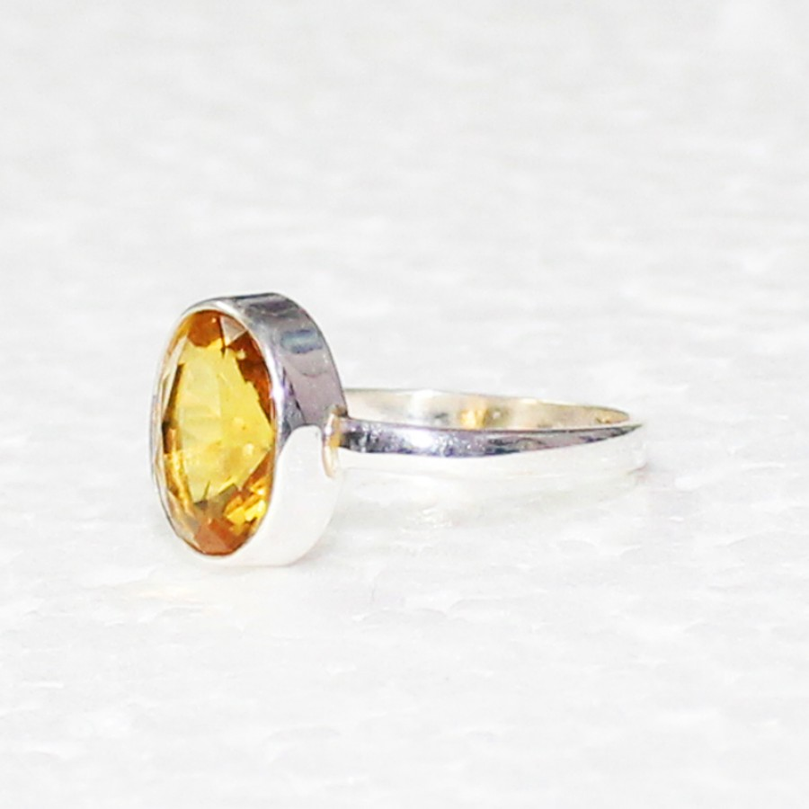Genuine NATURAL CITRINE Gemstone Ring, Birthstone Ring, 925 Sterling Silver Ring, Fashion Handmade Ring, All Ring Size, Gift Ring