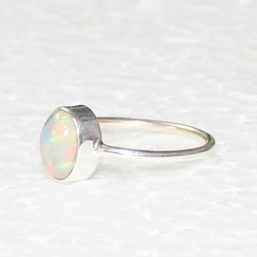Gorgeous NATURAL ETHIOPIAN OPAL Gemstone Ring, Birthstone Ring, 925 Sterling Silver Ring, Fashion Handmade Ring, All Ring Size, Gift Ring