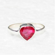 Beautiful RUBY CZ Gemstone Ring, Birthstone Ring, 925 Sterling Silver Ring, Fashion Handmade Ring, All Ring Size, Gift Ring