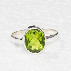 Beautiful GREEN PERIDOT Gemstone Ring, Birthstone Ring, 925 Sterling Silver Ring, Fashion Handmade Ring, All Ring Size, Gift Ring
