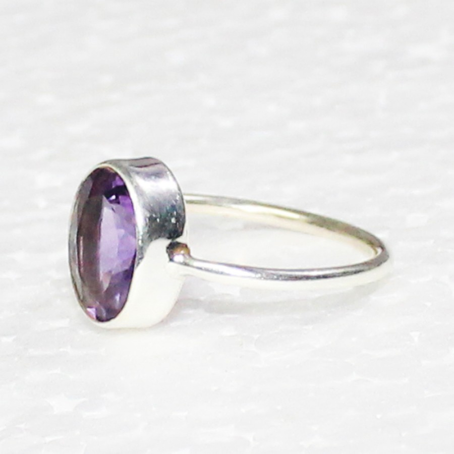 Gorgeous NATURAL PURPLE AMETHYST Gemstone Ring, Birthstone Ring, 925 Sterling Silver Ring, Fashion Handmade Ring, All Ring Size, Gift Ring