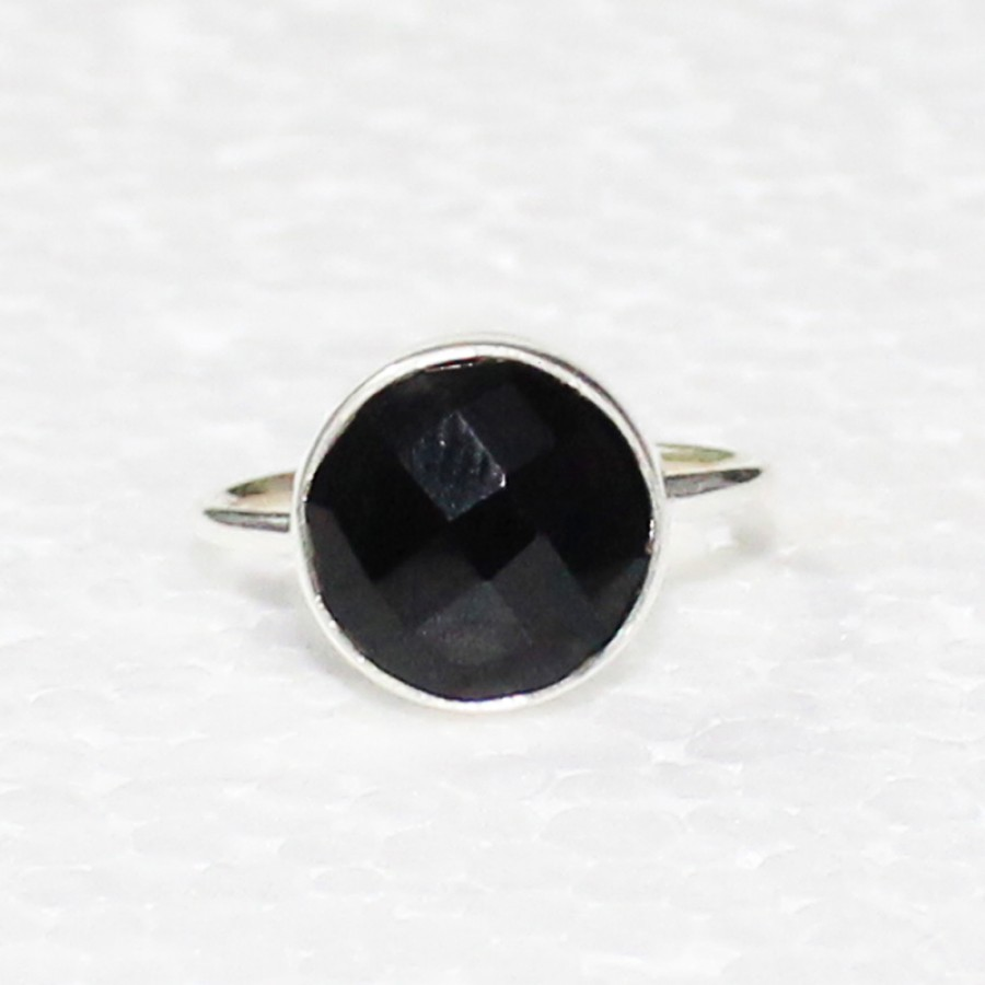 Attractive BLACK ONYX Gemstone Ring, Birthstone Ring, 925 Sterling Silver Ring, Artisan Handmade Ring, Fashion Ring, All Ring Size, Gift Ring