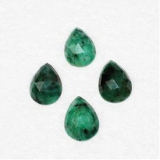 Genuine NATURAL EMERALD Gemstone, AAA Quality Faceted Gemstone, Size 18x13 mm Pear Checker Cut & 8.90 ct Weight Per Piece, Green Gemstone, Loose Gemstones