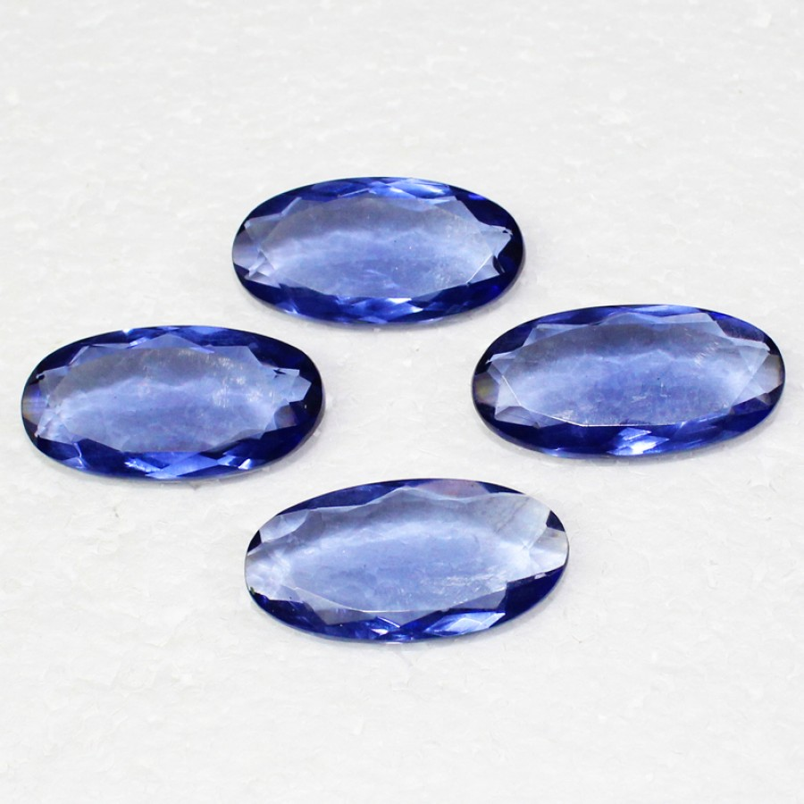 Amazing BLUE IOLITE Gemstone, AAA Quality Faceted Gemstone, Size 40x20 mm Oval & 59.40 ct Weight Per Piece, Blue Gemstone, Loose Gemstones