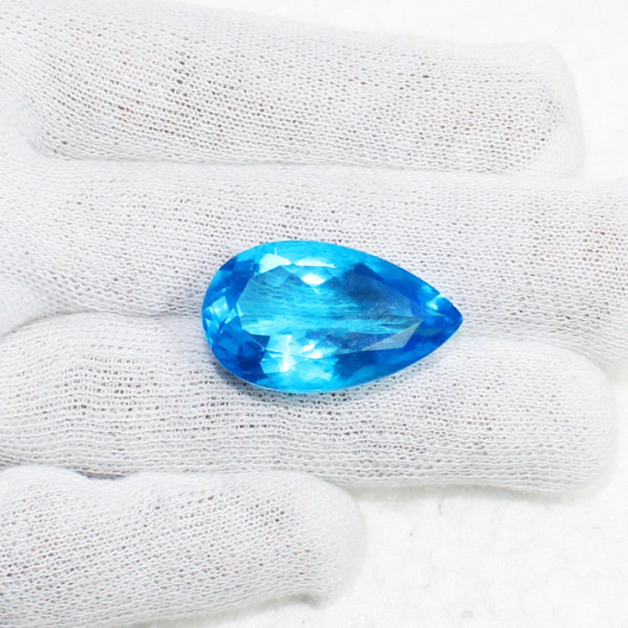Gorgeous LONDON BLUE TOPAZ Gemstone, AAA Quality Faceted Gemstone, Size 30x18x12 mm Pear & 34.50 ct Weight Per Piece, Blue Gemstone, Loose Gemstones