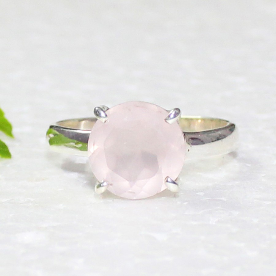 Awesome NATURAL ROSE QUARTZ Gemstone Ring, Birthstone Ring, 925 Sterling Silver Ring, Fashion Handmade Ring, All Ring Size, Gift Ring