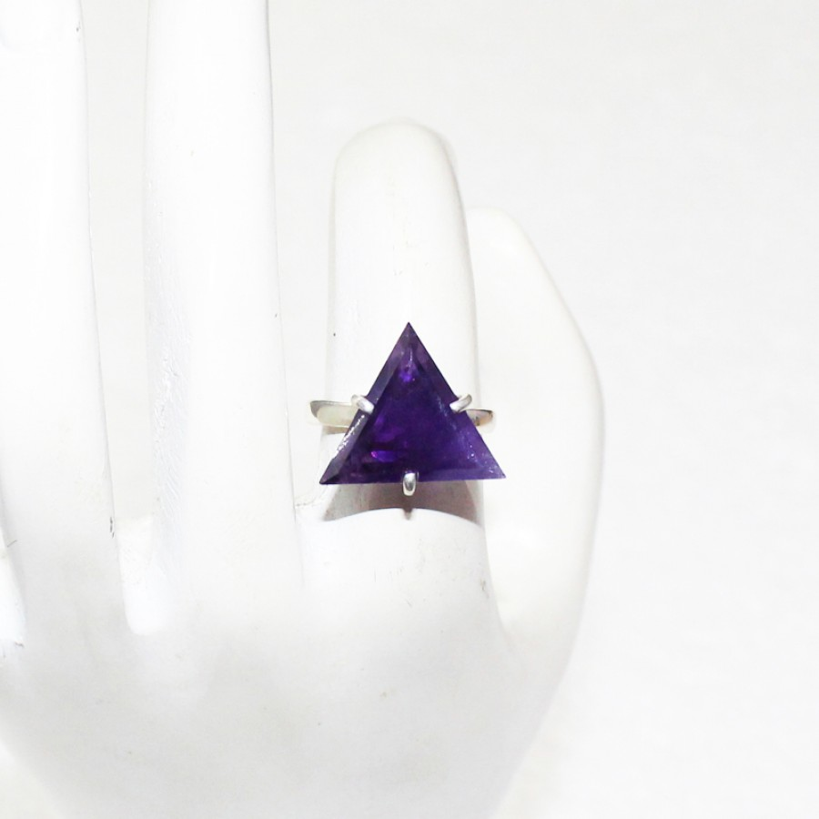 Exclusive NATURAL PURPLE AMETHYST Gemstone Ring, Birthstone Ring, 925 Sterling Silver Ring, Fashion Handmade Ring, All Ring Size, Gift Ring