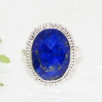 Gorgeous NATURAL LAPIS LAZULI Gemstone Ring, Birthstone Ring, 925 Sterling Silver Ring, Fashion Handmade Ring, All Ring Size, Gift Ring