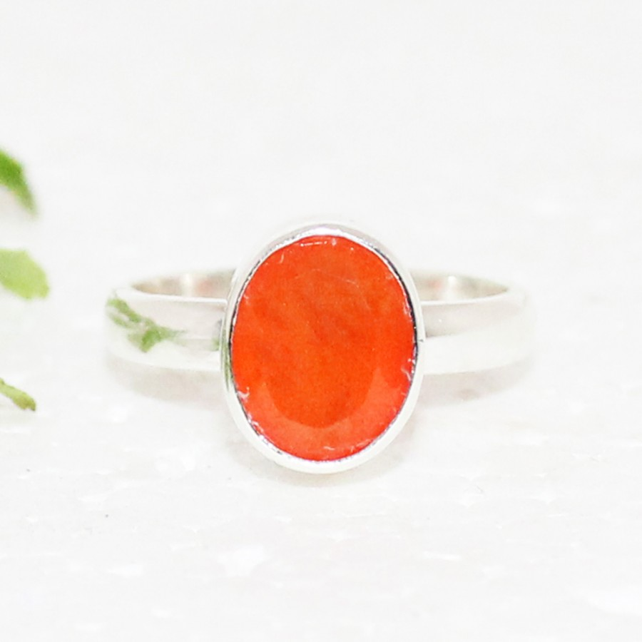 Beautiful NATURAL CARNELIAN Gemstone Ring, Birthstone Ring, 925 Sterling Silver Ring, Fashion Handmade Ring, All Ring Size, Gift Ring