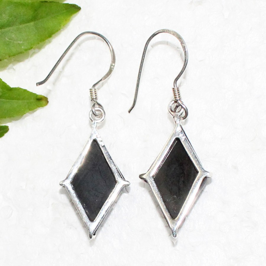 Exclusive NATURAL BLACK TOURMALINE Gemstone Earrings, Birthstone Earrings, 925 Sterling Silver Earrings, Fashion Handmade Earrings, Dangle Earrings, Gift Earrings