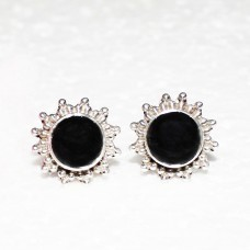 Genuine NATURAL BLACK TOURMALINE Gemstone Earrings, Birthstone Earrings, 925 Sterling Silver Earrings, Fashion Handmade Earrings, Stud Earrings, Gift Earrings