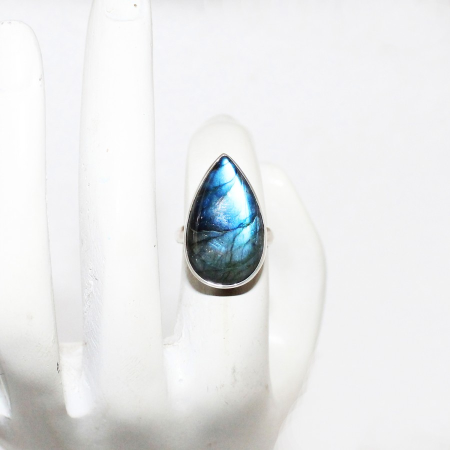 Gorgeous NATURAL BLUE FIRE LABRADORITE Gemstone Ring, Birthstone Ring, 925 Sterling Silver Ring, Fashion Handmade Ring, All Ring Size, Gift Ring