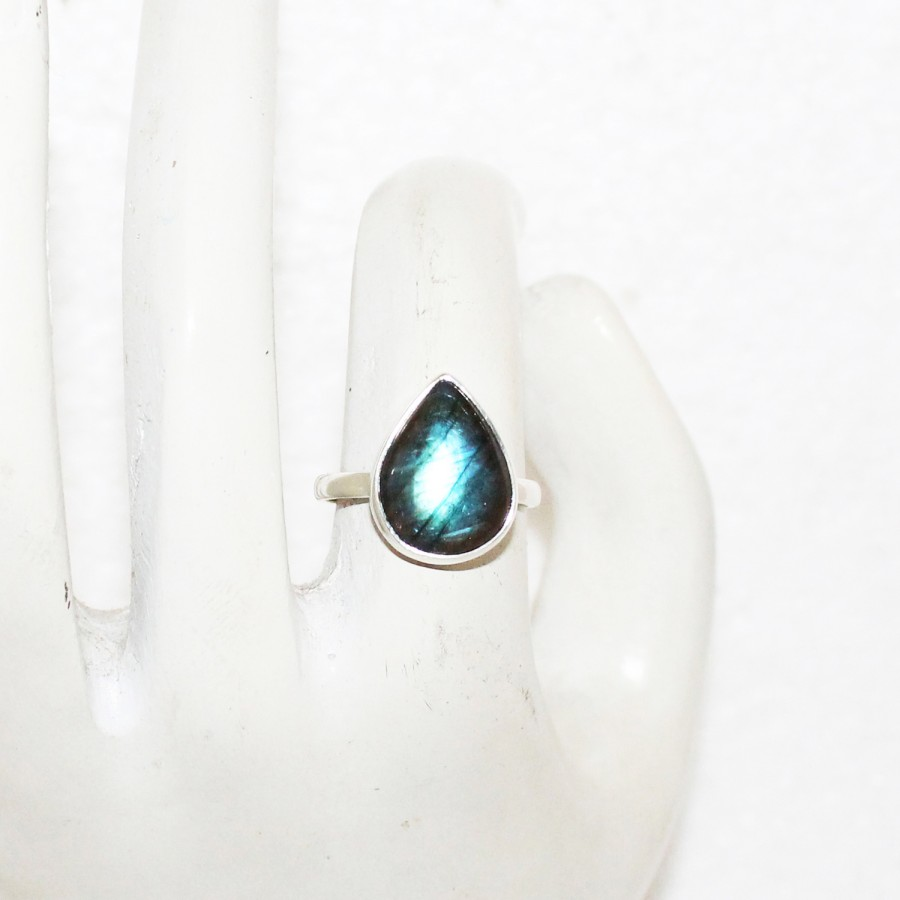 Amazing NATURAL BLUE FIRE LABRADORITE Gemstone Ring, Birthstone Ring, 925 Sterling Silver Ring, Fashion Handmade Ring, All Ring Size, Gift Ring