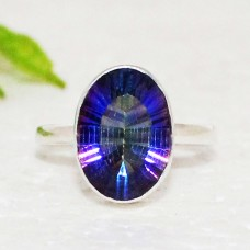 Amazing MIDNIGHT MYSTIC TOPAZ Gemstone Ring, Birthstone Ring, 925 Sterling Silver Ring, Fashion Handmade Ring, All Ring Size, Gift Ring