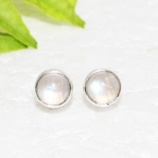 Beautiful NATURAL BLUE FIRE RAINBOW MOONSTONE Gemstone Earrings, Birthstone Earrings, 925 Sterling Silver Earrings, Fashion Handmade Earrings, Stud Earrings, Gift Earrings