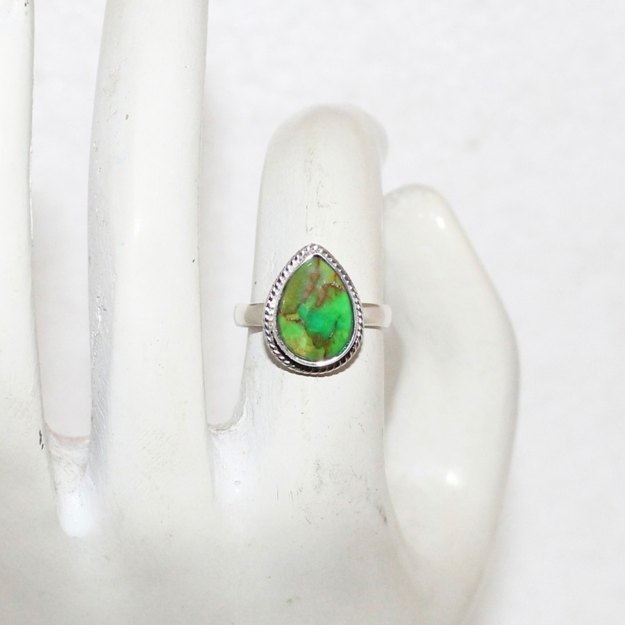 Beautiful NATURAL GREEN COPPER TURQUOISE Gemstone Ring, Birthstone Ring, 925 Sterling Silver Ring, Fashion Handmade Ring, All Ring Size, Gift Ring