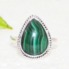 Beautiful NATURAL MALACHITE Gemstone Ring, Birthstone Ring, 925 Sterling Silver Ring, Fashion Handmade Ring, All Ring Size, Gift Ring