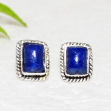 Amazing NATURAL LAPIS LAZULI Gemstone Earrings, Birthstone Earrings, 925 Sterling Silver Earrings, Fashion Handmade Earrings, Stud Earrings, Gift Earrings