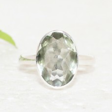 Amazing NATURAL GREEN AMETHYST Gemstone Ring, Birthstone Ring, 925 Sterling Silver Ring, Fashion Handmade Ring, Artisan Jewelry, All Ring Size, Gift Ring