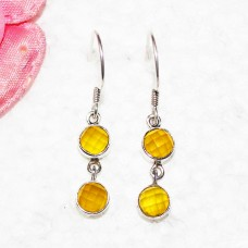 Amazing YELLOW ONYX Gemstone Earrings, Birthstone Earrings, 925 Sterling Silver Earrings, Fashion Handmade Earrings, Dangle Earrings, Gift Earrings