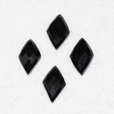 Beautiful NATURAL BLACK TOURMALINE Gemstone, AAA Quality Faceted Gemstone, Size 22x13 mm Diamond Checker Cut & 14.20 ct Weight Per Piece, Black Gemstone, Loose Gemstones