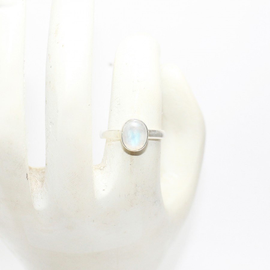 Earring Stone AG-9260 Crafts Ring Stone Top Quality Natural Blue Fire Rainbow Moonstone 2 Piece Stone Jewelry Component Pendant Stone