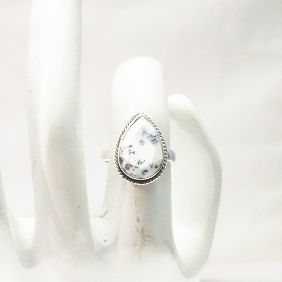 Beautiful NATURAL DENDRITIC OPAL Gemstone Ring, Birthstone Ring, 925 Sterling Silver Ring, Fashion Handmade Ring, All Ring Size, Gift Ring