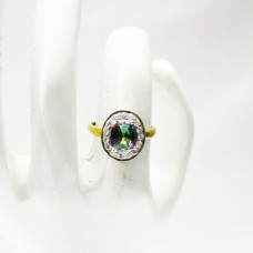 Gorgeous MIDNIGHT MYSTIC TOPAZ Gemstone Ring, Birthstone Ring, 925 Sterling Silver Gold Plated Ring, Fashion Handmade Ring, All Ring Size, Gift Ring