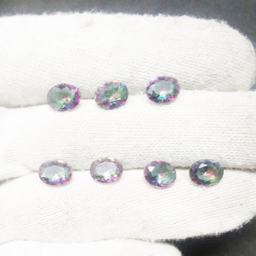 Amazing MIDNIGHT MYSTIC TOPAZ Gemstone, AAA Quality Faceted Gemstone, Size 9x7 mm Oval & 1.40 ct Weight Per Piece, Multicolor Gemstone, Loose Gemstones
