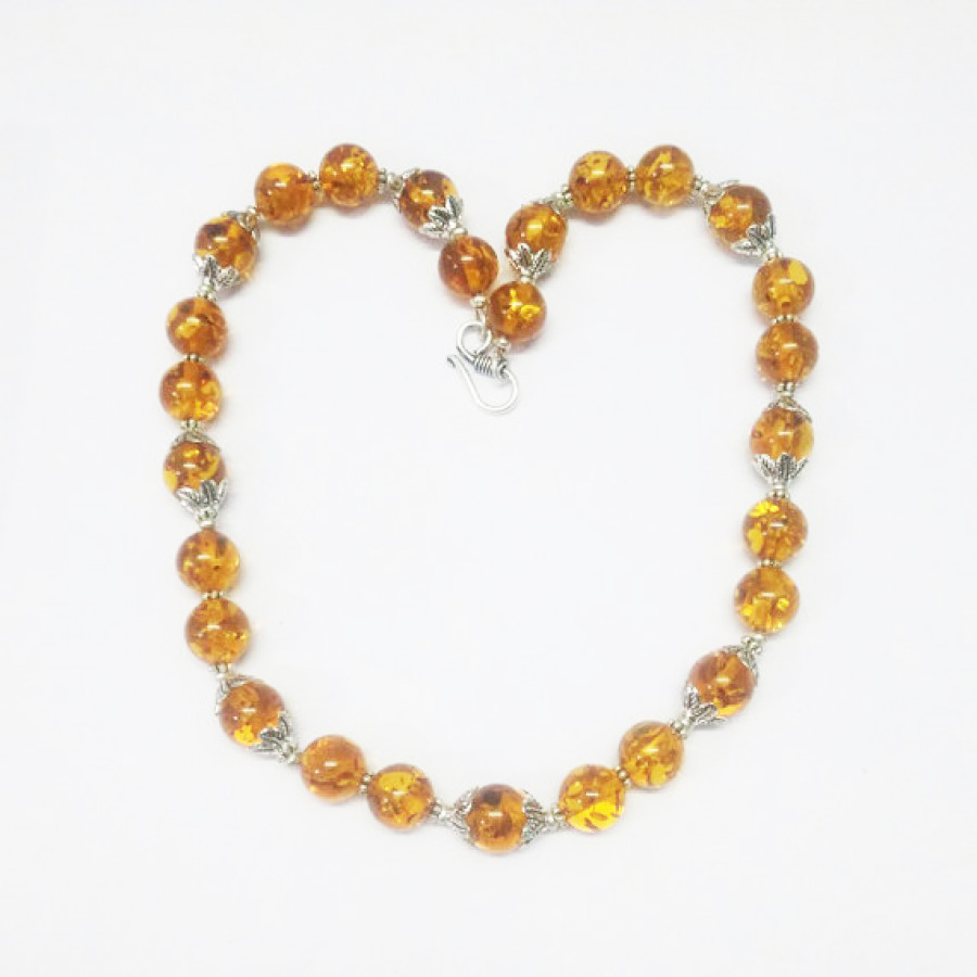 Exclusive BALTIC AMBER Gemstone Necklace, Birthstone Necklace, Fashion Handmade Necklace, Wedding Necklace, Christmas Necklace, All Size, Gift Necklace