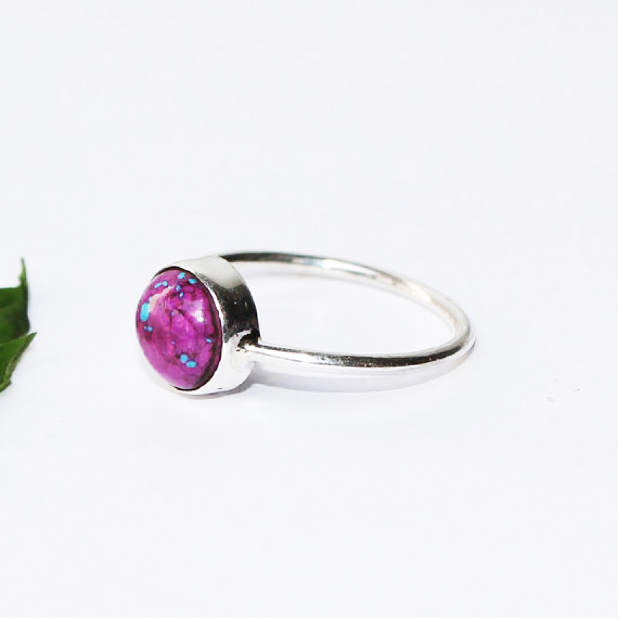 Beautiful PURPLE TURQUOISE Gemstone Ring, Birthstone Ring, 925 Sterling Silver Ring, Fashion Handmade Ring, All Ring Size, Gift Ring