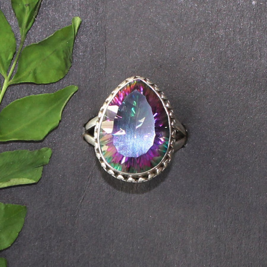 Exotic MIDNIGHT MYSTIC TOPAZ Gemstone Ring, Birthstone Ring, 925 Sterling Silver Ring, Fashion Handmade Ring, All Size, Gift Ring