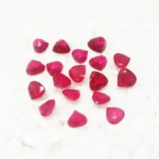 Attractive RUBY Color CUBIC ZIRCON Gemstone,AAA Quality Faceted Gemstone, Size 8 mm Heart & 1.75 ct Weight Per Piece, Red Gemstone, Loose Gemstones