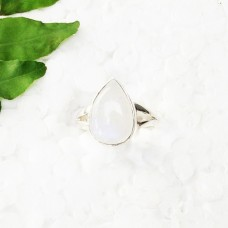 Amazing NATURAL BLUE FIRE RAINBOW MOONSTONE Gemstone Ring, Birthstone Ring, 925 Sterling Silver Ring, Fashion Handmade Ring, All Ring Size, Gift Ring