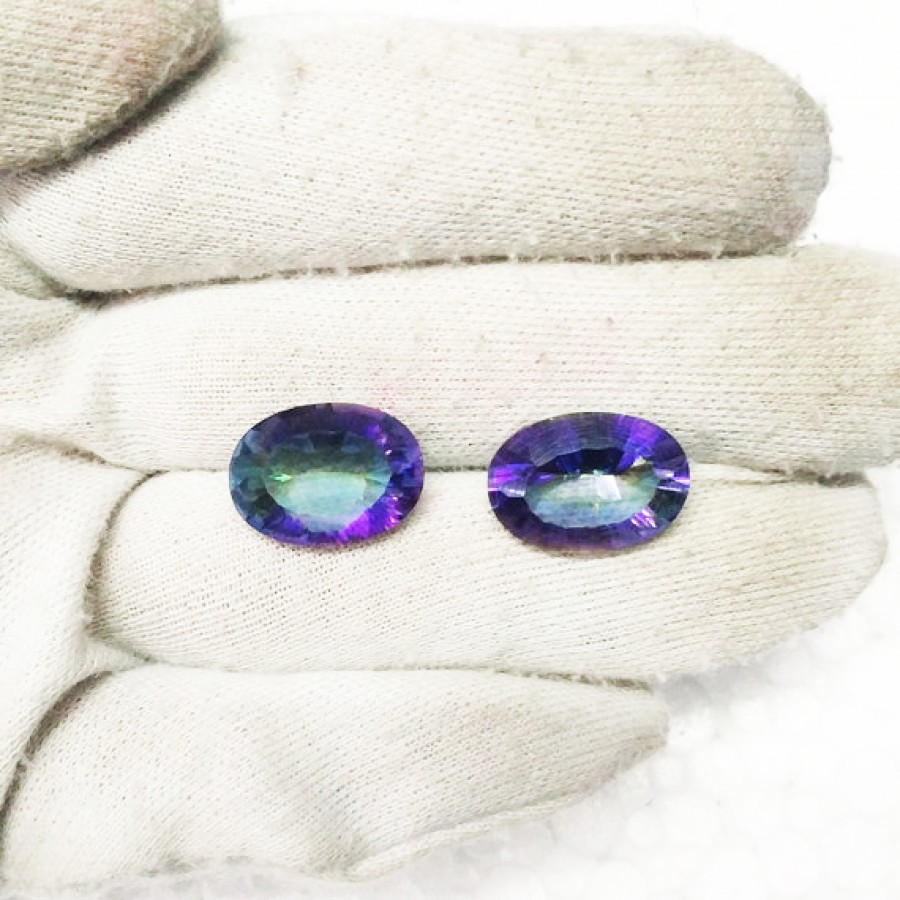 Gorgeous MIDNIGHT MYSTIC TOPAZ Gemstone, AAA Quality Faceted Gemstone, Size 18x13 mm Oval & 11.25 ct Weight Per Piece, Multicolor Gemstone, Loose Gemstones