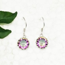 Exclusive MIDNIGHT MYSTIC TOPAZ Gemstone Earrings, Birthstone Earrings, 925 Sterling Silver Earrings, Fashion Handmade Earrings, Dangle Earrings, Gift Earrings
