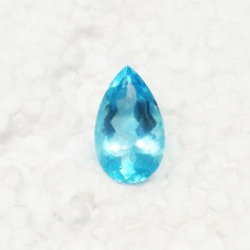 Awesome SWISS BLUE TOPAZ Gemstone, AAA Quality Faceted Gemstone, Size 30x18x13 mm Pear & 36.50 ct Weight Per Piece, Blue Gemstone, Loose Gemstones