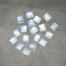 Exotic NATURAL BLUE FIRE RAINBOW MOONSTONE Gemstone, AAA Quality Cabochon Gemstone, Size 12x10 mm Octagon & 5.60 ct Weight Per Piece, Loose Gemstones