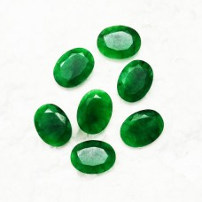 Awesome NATURAL INDIAN EMERALD Gemstone, AAA Quality Faceted Gemstone, Size 20x15x6 mm Oval & 17.25 ct Weight Per Piece, Green Gemstone, Loose Gemstones