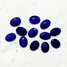Amazing NATURAL INDIAN BLUE SAPPHIRE Gemstone, AAA Quality Faceted Gemstone, Size 16x12 mm Oval Checker Cut & 9.00 ct Weight Per Piece, Blue Gemstone, Loose Gemstones