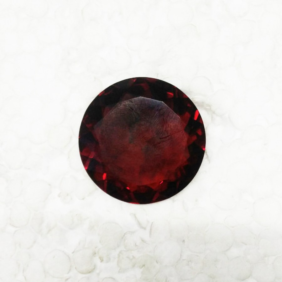 Exclusive RED GARNET Gemstone, AAA Quality Faceted Gemstone, Size 34x34x15 mm Round & 87.20 ct Weight Per Piece, Red Gemstone, Loose Gemstones