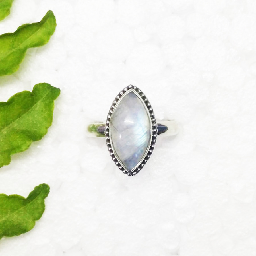 Awesome NATURAL FIRE RAINBOW MOONSTONE Gemstone Ring, Birthstone Ring, 925 Sterling Silver Ring, Fashion Handmade Ring, All Ring Size, Gift Ring