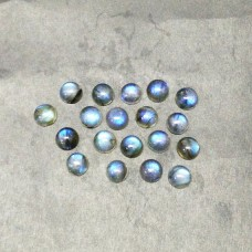 Exclusive NATURAL BLUE FIRE LABRADORITE Gemstone, AAA Quality Cabochon Gemstone, Size 9x9 mm Round & 3.00 ct Weight, Black Rainbow, Loose Gemstones