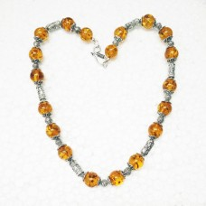Beautiful BALTIC AMBER Gemstone Necklace, Birthstone Necklace, Fashion Handmade Necklace, Wedding Necklace, Birthday Necklace, All Size, Gift Necklace