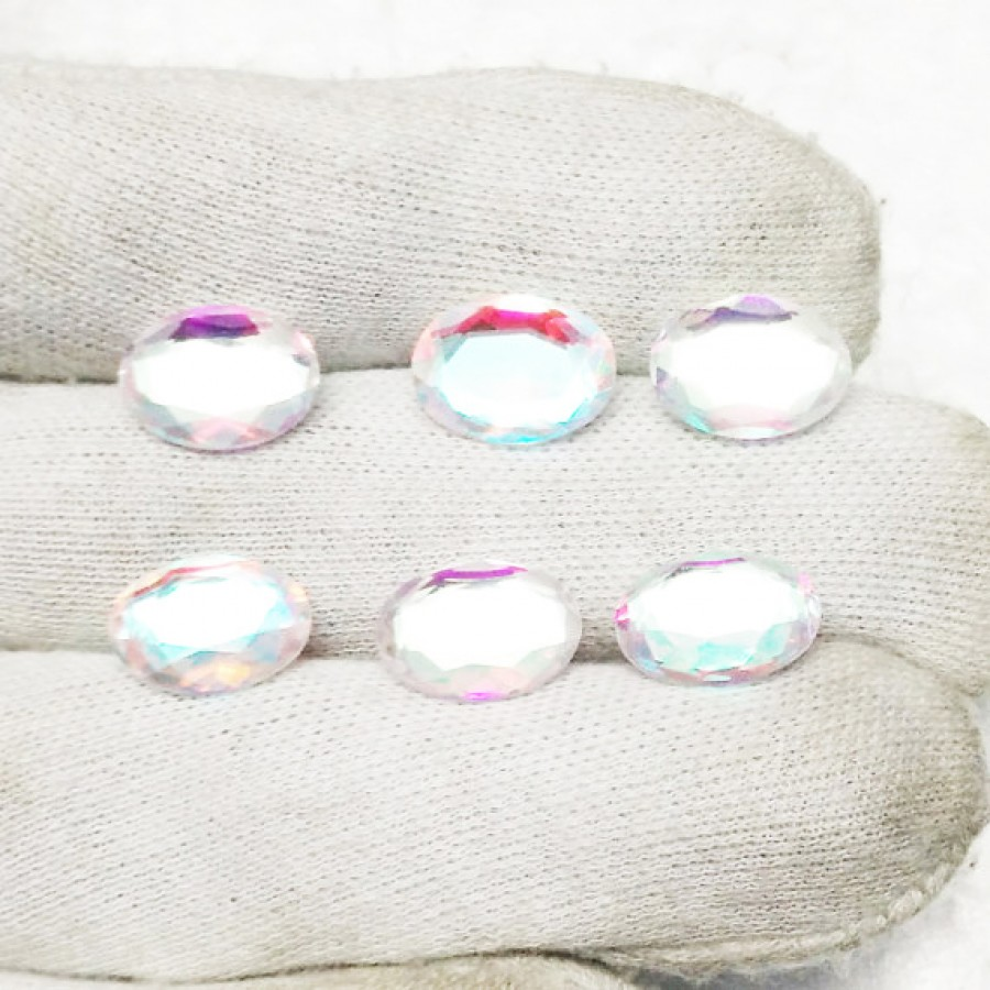 Beautiful RAINBOW MYSTIC Gemstone, AAA Quality Faceted Gemstone, Size 14x10 mm Oval & 5.00 Ct Weight Per Piece, Multicolor Gemstone, Loose Gemstones