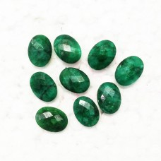 Amazing NATURAL INDIAN EMERALD Gemstone, AAA Quality Faceted Gemstone, Size 16x12 mm Oval & 10.10 ct Weight Per Piece, Green Gemstone, Loose Gemstones